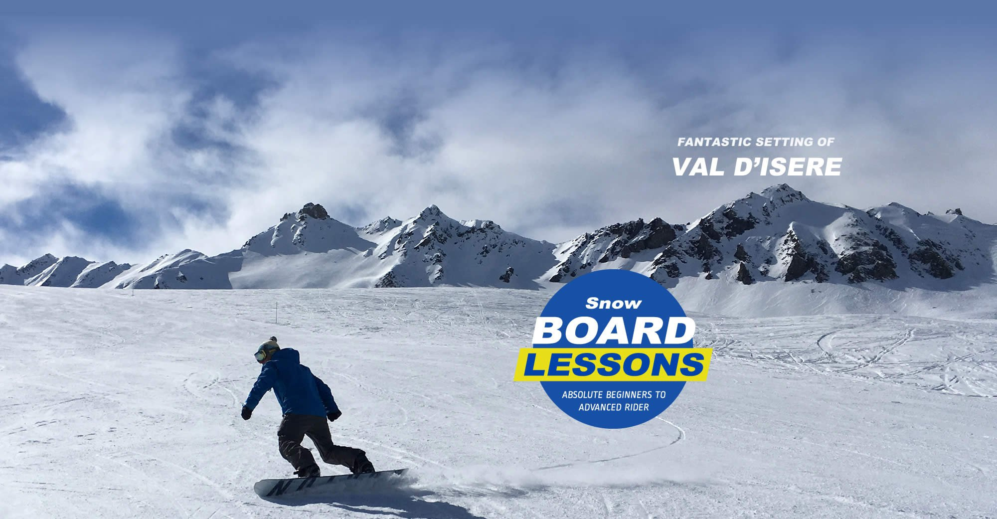 Snowboarding Instruction at Val d'Isere in the French Alps