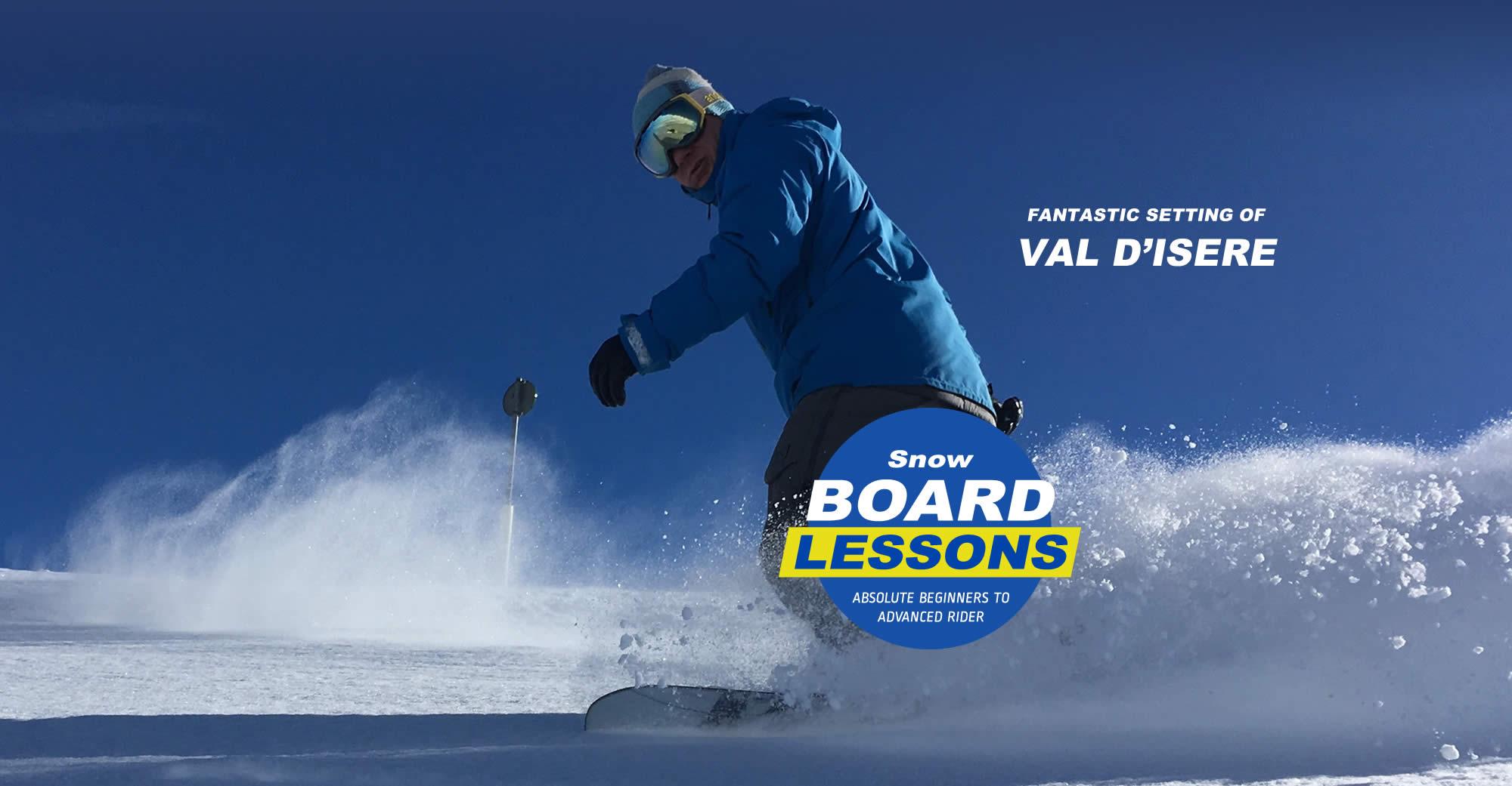 Snowboarding Instructors at Val d'Isere in the French Alps